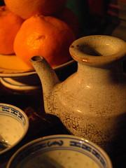 Still life with oranges (Joss House detail 2) (thegreensea) Tags: stilllife house slr temple russell chinese australia olympus bowl victoria peter teapot oranges joss bendigo e410