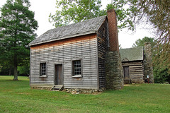 North Carolina, Greensboro, Tannenbaum Historic Park, Hoskins Farmhouse, and Kitchen (Replica) (EC Leatherberry) Tags: kitchen farmhouse northcarolina replica restored outbuilding 1813 cookhouse guilfordcounty tannenbaumhistoricpark hoskinsfarmstead