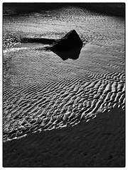 Midsummer Shadows Caerfai Beach (Maggie's Camera) Tags: beach rock sunrise dawn sand shadows midsummer pembrokeshire walesuk caerfai 21june2014