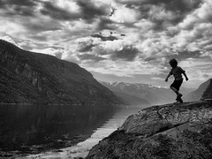 Osafjord, Norway (Neal J.Wilson) Tags: mountains silhouette norway clouds children landscapes rocks skies lakes scandinavia fjords