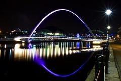 From Newcastle Quayside (D Johnson1922) Tags: longexposure nightphotography reflections river newcastle streetlights sage millenniumbridge tynebridge quayside rivertyne