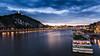 Budapest, Danube (zépapa) Tags: longexposure bridge blue topf25 water statue canon river landscape liberty eos boat topf50 topf75 europa europe long exposure hungary ship budapest hour l bluehour 24mm duna soe danube magyarország autofocus tájkép gellérthegy longexpo 24105mm európa folyó kékóra