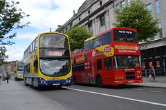 Dublin Bus GT8 12-D-35998 & Dualway City Sightseeing Dublin 99-D-498 (Will Swain) Tags: street city travel ireland dublin bus buses june south centre main capital transport sightseeing southern seen oconnell 22nd 2014 gt8 dualway 99d498 rv498 12d35998