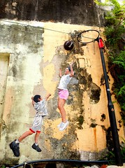 The Jumping Wall (stardex) Tags: streetart art basketball wall painting jump mural georgetown unesco malaysia penang chuliastreet stardex