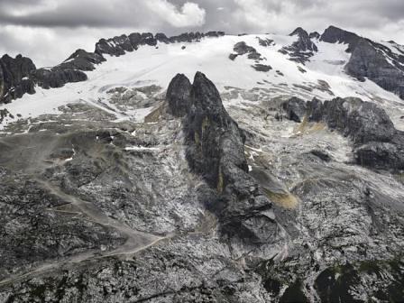 Marmolada, Vista dal Monte Padon