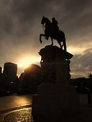 (bolbolaan) Tags: light sunset urban london monument statue clouds dusk trafalgar charingcross georgeiv johnnash