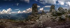 Striving Upwards (Elliott Bignell) Tags: alps stone schweiz switzerland suisse towers ostschweiz menhirs stack berge stacking svizzera rheintal piling wanderung rhinevalley pizol 5lakes 5seen