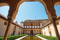 Alhambra-Patio de los Arrayanes, Granada, Spain (CamelKW) Tags: spain alhambra granada courtofthemyrtles alhambrapatiodelosarrayanes spain2014