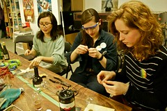 Workshop instructor, Jennifer Rong, teaches the art of upcycling