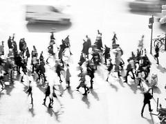 busy ghosts (mouzhik) Tags: street blackandwhite bw paris canon noiretblanc spirit ghost nb nophotoshop phantom espectro parijs pars esprit duende espritu zemzem  muzhik pary mujik parys    pariisi    parizo moujik phantme  mouzhik   pars prizs busyghosts