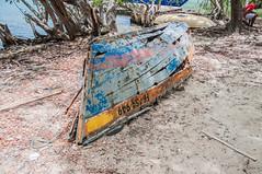 Islet Charvet (yovo) Tags: france color vintage martinique sable ile ruine bateau plage lieu