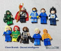 LEGO Clone Brand - Decool Minifigures (WhiteFang (Eurobricks)) Tags: lego fake superheroes clone brands customisation decool entry1958046
