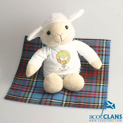 Soft Toy Lamb With Clan Crest Shirt