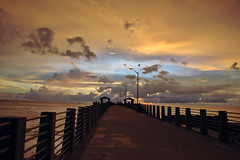 Sunset on Fort Desota Fishing Pier (Rusty4344) Tags: sunset pier fishing gulf osprey flordia fishingpier