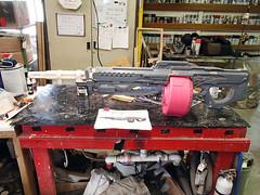 Side View Progress (thorssoli) Tags: saw gun halo replica prop lmg machinegun squadautomaticweapon halo4 m739 m729