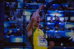 Video shows on the Opera House (Claude Schildknecht) Tags: light licht championship athletics opera europe suisse lumire places zrich oper opernhaus 2014 sechselutenplatz projektil lichttapete
