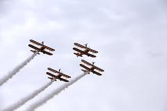 Breitling Wingwalkers (Steven Vacher) Tags: plane military aeroplane vulcan farnborough redarrows savage 2014 savagephotography farnborough2014