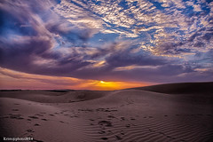 SAHARA (zemblated) Tags: sunset sky sahara clouds de soleil sand desert coucher sable bluesky bleu ciel nuages hdr karim   ceil     desesrt hezlaoui