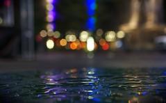 When will my reflection show who I am inside? (PeterThoeny) Tags: ohio reflection wet water colors night raw bokeh cincinnati hdr waterreflection photomatix wetreflection fav200 1xp nex6 sel50f18