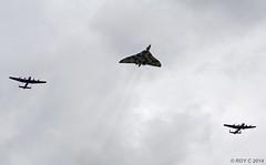 3 AVRO,S FLYPAST AT RAF METHERINGHAM (Apple Bowl) Tags: lancaster vulcan raf avro metheringham