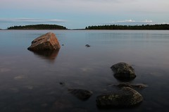 Sweden 2014 (SS) Tags: longexposure light sea vacation sky seascape water colors reflections island photography evening exposure pentax sweden stones horizon balticsea tones k5 2014 ss