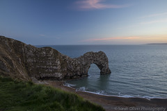 Durdel Door at Sunset (SarahO44) Tags: park door uk trees sunset england cloud holiday silhouette st rock canon bay coast arch unitedkingdom cove united kingdom east hills formation dorset jurassic lulworth wareham 6d durdle oswalds westlulworth