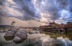 MPW_5218 (Michael-Wilson) Tags: arizona sky lake reflection tree water clouds michael az monsoon wilson tranquil prescott watsonlake michaelwilsoncom