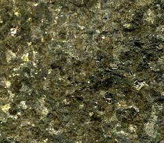 Sulfidic bronzitite (platinum-palladium ore) (Johns-Manville Reef, Stillwater Complex, Neoarchean, 2.71 Ga; Stillwater Mine, Beartooth Mountains, Montana, USA) 1 (James St. John) Tags: stillwater complex neoarchean archean precambrian beartooth mountains montana mine platinum palladium ore johns manville reef chalcopyrite pyrrhotite bronzite bronzitite