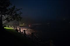 Lakeshore Night Fog (Skeeter Photo) Tags: moon lake minnesota fog night campfire mn lakesuperior highi