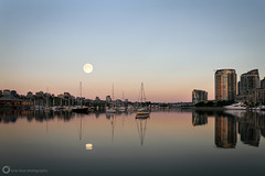 False Creek Supermoon (PiscesDreamer) Tags: city sunset summer urban moon canada water skyline vancouver creek docks boats dawn downtown skyscrapers harbour britishcolumbia seawall fullmoon yaletown falsecreek granvilleisland sailboats lunar condominiums vancity moorage sturgeonmoon grainmoon greencornmoon supermoon lunarperigee perigeesyzygy