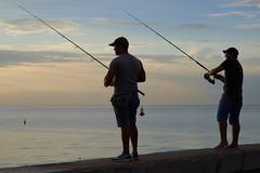 _DSC2788 (fotoliber) Tags: sunset atardecer fishermen cuba pesca malecón pescadores lahabana d600