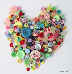 I love to sew (spicyapplebum) Tags: heart buttons sewing sew button