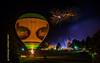 Ballonglühen mit Feuerwerk bei der Hauzenberger Dult 2014