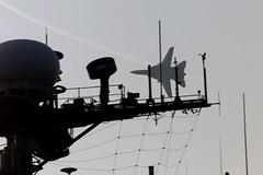000923-N-6967M-507 (navalsafetycenter) Tags: silhouette f14 antennae tomcat flyby ussgeorgewashingtoncvn73 cvn73 antennaarray ussgeorgewashington antennaearray