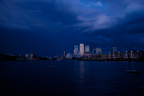 Unusual Canary Wharf sunset ©  Still ePsiLoN