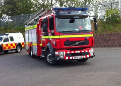 SF12 KRV (Cammies Transport Photography) Tags: rescue station fire volvo scottish and service fl dunfermline sf12krv