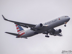 American Airlines --- Boeing B767-300ER --- N394AN (Drinu C) Tags: plane heathrow aircraft sony boeing americanairlines dsc lhr 767 egll n394an hx100v adrianciliaphotography