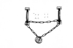 High Key Pad Lock (Orbmiser) Tags: summer bw oregon portland nikon lock highkey padlock chained d90 55200vr