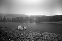 Loch Drumore (Daniel Giza) Tags: bw forest landscape scotland perthshire loch drumore