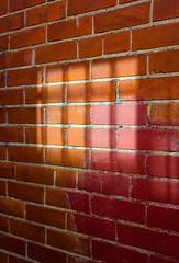 Reflected Through Bars (JeffStewartPhotos) Tags: light toronto ontario canada window wall alley bars alleyway utata neighbourhood redbrick reflectedlight thursdaywalk thursdaywalks