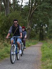 Happy Cyclists (wwshack) Tags: panorama scotland cyclist lochleven llht
