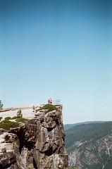 taft point (spitting venom) Tags: cliff film vertical 35mm pentax hiking adventure yosemite edge yosemitenationalpark yosemitevalley taftpoint pentaxfilm