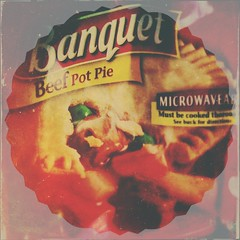 Beef Pot Pie (Poetic Medium) Tags: stilllife food art 6x6 apple square ipod beef text popart potpie tvdinner mextures