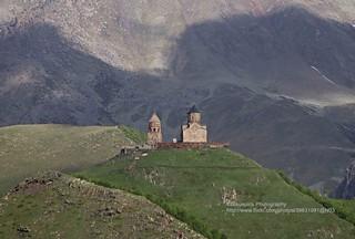 Stepantsminda, Mt. Kazbek, Gergeti Trinity Church