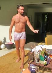 sunpool 104 (danimaniacs) Tags: shirtless man hot cute sexy guy beard handsome hunk shorts stud hunky scruff sunpool