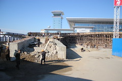 Sunan Airport Construction 2014 (Ray Cunningham) Tags: airport workers construction north korea international runway pyongyang dprk coreadelnorte sunan