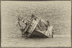 How heavy was that Anchor? (Evoljo) Tags: ireland sea water boat blackwhite nikon ship cork baltimore wreck d7100