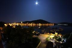 Croatia, Tisno (mr-mojo-risin) Tags: ocean moon night island croatia longtimeexposure murter tisno