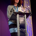 Maggie O Farrell on stage at the Edinburgh International Book Festival