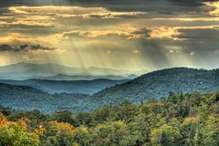 The View From Libby's Look September 21, 2014 (michael.mckennedy) Tags: autumn trees sun mountain fall nature clouds landscape vermont ray westbolton tonemapped